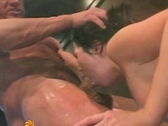 Ashley Blue's perky little titties get squeezed by Lee's