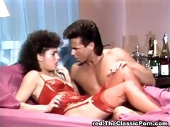 Sexy red lingerie and doggy pounding - Peter North