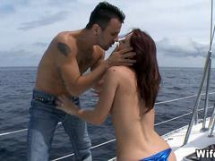 Cheating Wife gets Fucked on boat