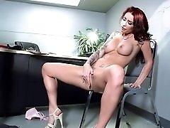 Nerdy IT guy fucks the office babe hardcore