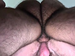 hairy bear flip flop and cumshot