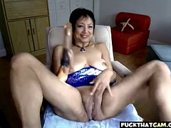 this asian granny is a horny slut
