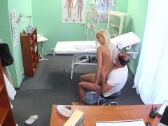 Doctor bangs big tits blonde patient