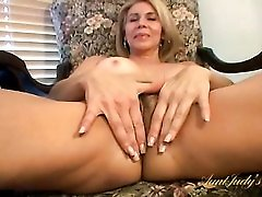 Hairy twat is hot on a dildo fucking older ladies