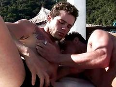 Hot Gay Dude Barebacked and Cum On Boat after Blow