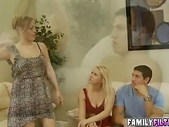 Pretty chick Vanessa Cage getting a huge large cock