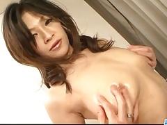 Sensual pussy solo along busty Ryo Sasaki