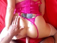 Hot mom takes her panties to the side and gets rammed in POV