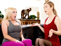 Two angels Karla Kush and Christie Stevens are fucking in the 69 pose