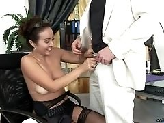 Hot milf Diana gets taken by surprise when this stud takes her into the office and fucks her good