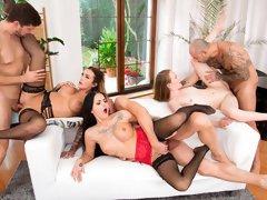 Crazy X-Mas orgy with Barbie Esm, Emma Fantazy and Daisy Lee