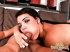 Arab with hot lips gives a lusty blowjob