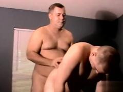 Gay twinks Joe gets a warm blast of straight stud jism right