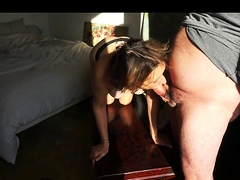 Lustful granny has a guy plowing her needy cunt from behind