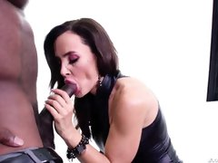Astonishing cougar brown-haired with thick globes, Lisa Ann got bum-fucked by a nasty, dark-hued fellow