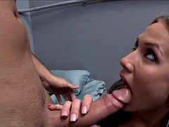 busty cop alanah rae deepthroats giant dick