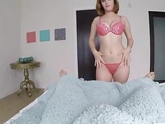 Girlfriend Mia makes out filmed in POV