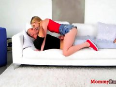 Smoking hot blonde with big tits is having a threesome instead of getting a relaxing massage