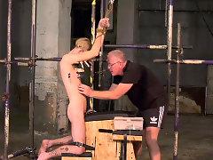 Twink slave Jacob Daniels endures his mature masters torment