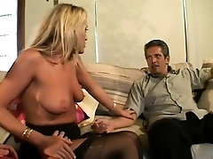 Sexy lass got stockings stockings filled chest