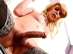 T-MLIF Joanna Jet fucks her ass and jerks her dick