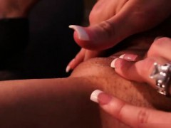 Sexy blonde babe goes crazy rubbing her part1