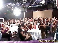 Amateur party babes sucking off lucky strippers