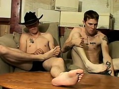 Tubes gay twink feet Cowboy buddies Ty and Lee have never dr