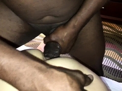 Buxom blonde milf has a black dick stretching her tight cunt