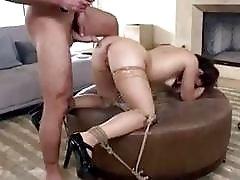 Hardcore bondage fucking with submissive slut and master BDSM porn