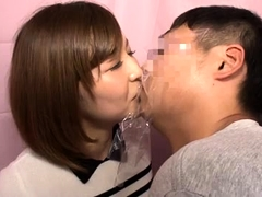 Cute Japanese girls surrender their peaches to stiff cocks