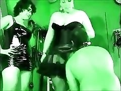 Dirty slave worships the asses of his mistresses BDSM porn