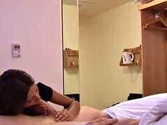 cfnm babe teasing her boyfriend in bedroom