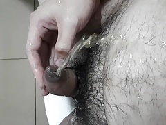 pissing on myself - gay chubby bear