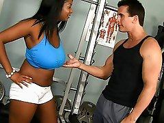 Hugetits ebony chubby teen in sport club