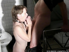 french sexe soumise sandy libertine bdsm suce