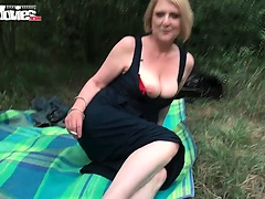 Julia is a sexy German blonde housewife in for some sexual